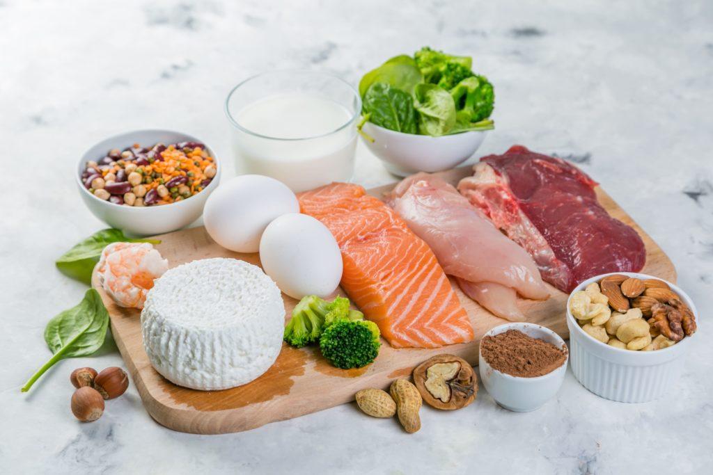 Eiweiß Protein richtige Ernährung fitness Training